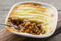 Tasty lential shepherd's pie (vegetarian &GF too)