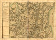 Map of Williamsburg for Comte de Rochambeau during the Revolutionary War on the road to the Battle of Yorktown