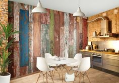 Wood plank wallpaper on pinterest wood wallpaper wood planks and p - Fries behang wall ...