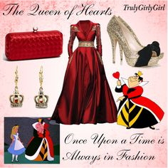 Disney Style: The Queen of Hearts, created by trulygirlygirl on Polyvore