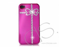 Ribbon Bling Swarovski Crystal Phone Case - Pink  http://www.dsstyles.com/ds.crystals/ds.-crystal-phone-cases-christmas-gift-ribbon-swarovski-crystal-phone-case-pink.html