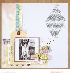 #papercraft #scrapbook #layout.  Bug Girl by natalieelph at @Studio_Calico