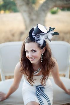 Alice in Wonderland top hat- I love the black. I can see it against the iconic light blue dress.
