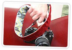 Reversible camera strap cover