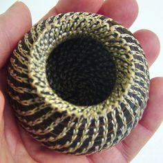 Large Horsehair Basket. Coiled Basket, Dark Mare, free shipping on Etsy, $160.00