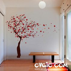 Blossom Tree Wall Decal – Evgie Tree Wall Stickers