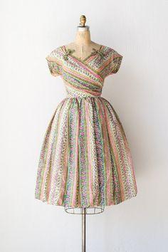 vintage 1950s dress | 50s dress | Garden Gironde Dress