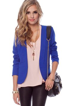 I want a colorful blazer.  This color is perfect!