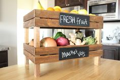 idea, fruit crate, craft, fruit bowls, home projects, home improvement projects, kitchen, diy home, home improvements