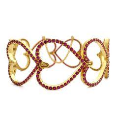 Daniel Gibbings - Ruby Heart Bracelet