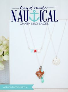 Create nautical necklaces with Martha Stewart Crafts Jewelry  #marthastewartcrafts #12MonthsofMartha