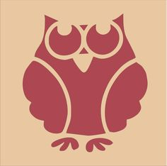 Stencils Owl 2 LARGE 9 wide x 10 tall each by SuperiorStencils, $11.25