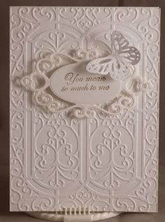 butterfli, white card, wedding cards