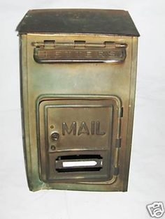Vintage mail box for cards.