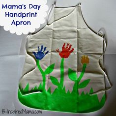 Kids Craft: Hand Print Flower Apron for Mom