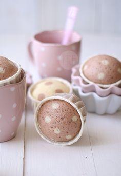 muffins, polka dots, cupcakes, cupcak dot, soft pink