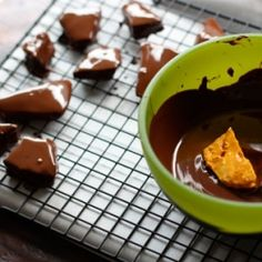 Making CHOCOLATE COVERED HONEYCOMB Candy!