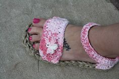 So I made some summer shoes!  #crochet