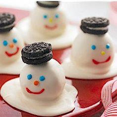Melting Snowman Cookie Balls