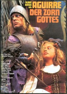 Aguirre, Wrath of God (Werner Herzog, 1972), Herzog's first collaboration with Klaus Kinski, who plays a ruthless leader of a Spanish expedition through the Amazon. Find this at 791.43743 AGU