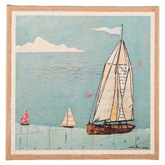 Great sailboat print.