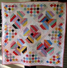 """FREE quilt pattern: """"Jelly Roll Posies for Baby"""" (from Quilt Patterns from Seattle/Cindy Carter)"""