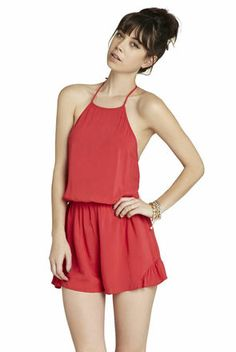 Side Ruffled-Inset Romper | BCBGeneration