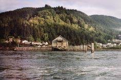 on the water in Garibaldi, Oregon