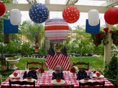 Decorating for Memorial Day and Fourth of July