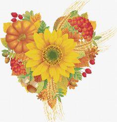 Autumn heart free chart cross stitch