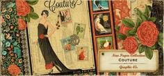 #papercraft #CHAWinter2014 #SneakPeeks & A Giveaway of this collection!  #Papercrafting Product Release: Graphic 45 – Couture