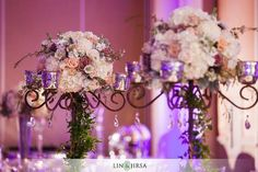 Stunning #floral #centerpieces at this amazing #uplighting #wedding #reception! #diy #diywedding #weddingideas #weddinginspiration #ideas #inspiration #rentmywedding #celebration #weddingreception #party #weddingplanner #event #planning #dreamwedding by @linandjirsa