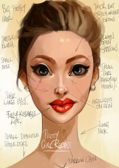 Methodology for painting pretty girls - The Toon Sketchbook
