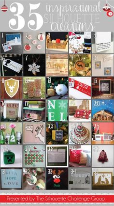 35 Silhouette Projects #Christmas #Silhouette