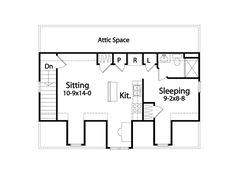 garage apartment A floor plan