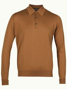 John Smedley Finchley Long Sleeve Polo Shirt - Coco - Available to buy at http://www.afarleycountryattire.co.uk/product-tag/john-smedley-finchley-long-sleeve-polo-shirt/ #johnsmedley #mensfashion #poloshirt #afarleycountryattire