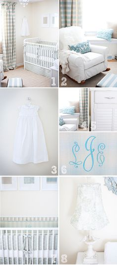 blue girl's nursery