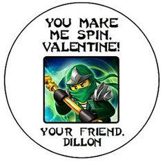 green ninjago valentine box