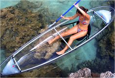 clearn bottom kayak!