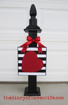 holiday, heart plaqu, valentine day, front porch, craft idea