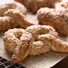 serve soft pretzels with various german mustards