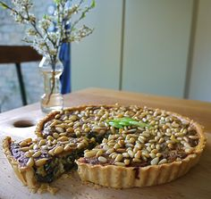 Wild Garlic quiche - can also be made with nettles.