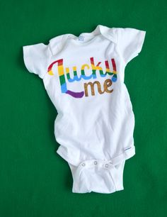 lucky rainbow onesie