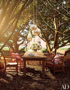 Katharine Hepburn's former family estate is up for saleTour eight amazing community gardens transformed by Bette Midler's New York Restoration ProjectSee the organic vegetable patches and luxe landscapes of ten celebrities with green thumbs featured in ADAt their magnificent 1,600-acre Crawford retreat, Laura and George W. Bush live the green life