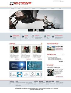 Teletronica - Website on Behance