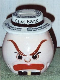 Vintage Cuss Head Character Bank 1950's