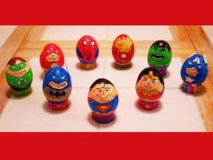 SuperHero easter eggs- but not on real eggs of course