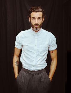 beard styles, shirt