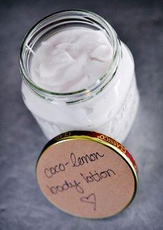 DIY: Coco-lemon body lotion