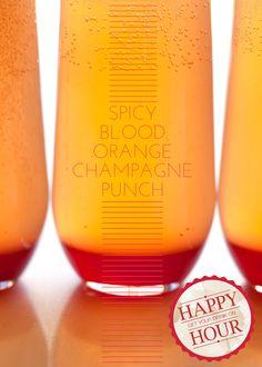 Spicy Blood Orange Champagne Punch
